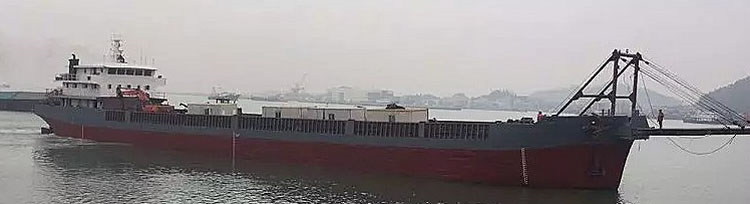 5000 DWT, 93 m Self-Propelled Deck Barge with Bow Ramp
